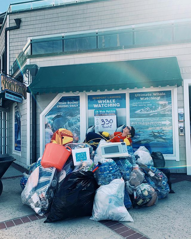 The end result of this weekend's beach cleanup: 397 Volunteers removed 330 pounds of trash from the Newport Peninsula!Our on current track, the ocean will have more plastic than fish by 2050.  But, the results from our Coastal Cleanup Day participation show HOPE!Thank you to all our volunteers; and we hope to see you on the water (and NOT this load of trash!) •••••••••#discoverocean #whales #whalewatching #newportbeach #orangecounty #beachcleanup #savetheplanet #socal #newportbeach #coastalcleanup #coastalcleanupday